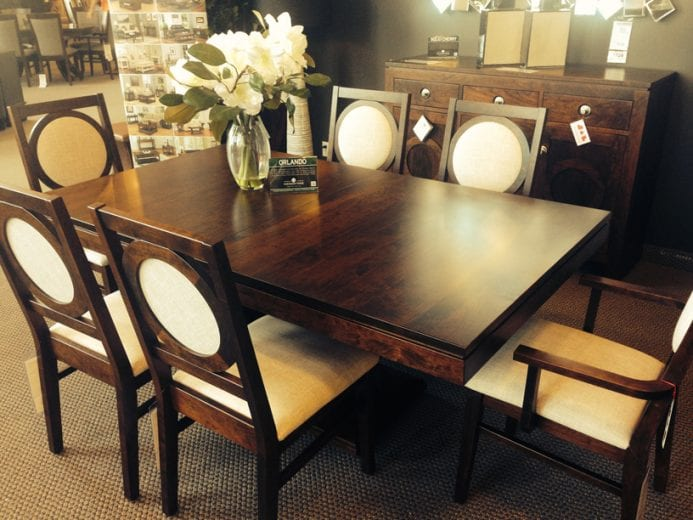 Check out this beautiful new Handstone dining set on our store floor!