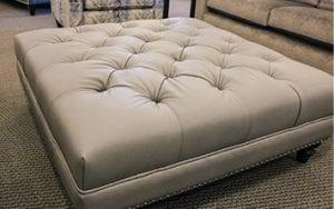 Birchwood Furniture Fabric Ottoman