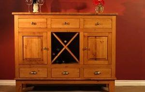 Birchwood Sahara Solid Wood Wine Cabinet