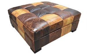 Birchwood Omnia Leather Ottomon