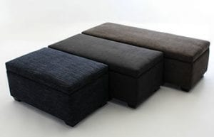 Birchwood Furniture Leather Ottoman